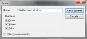 buscarInitialKeyboardIndicators