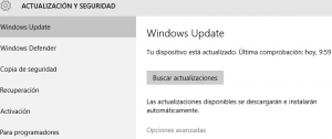 Configuración de Windows Update