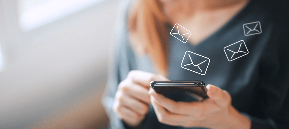 envío de correos al móvil