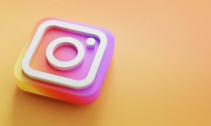 Logo de Instagram 3d